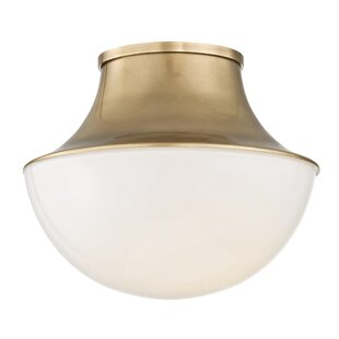 Comparison Collier 1-Light LED Flush Mount By Latitude Run