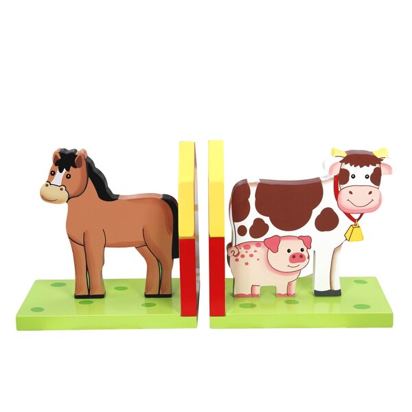 Happy Farm Bookend (Set of 2) by Fantasy Fields