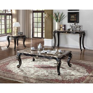 Marble 3 Piece Coffee Table Set BestMasterFurniture