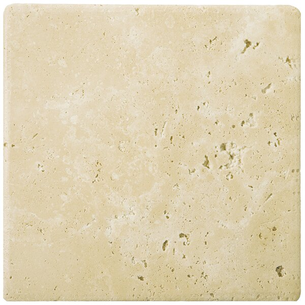 Travertine 12 x 12 Field Tile in Ancient Tumbled Beige by Emser Tile