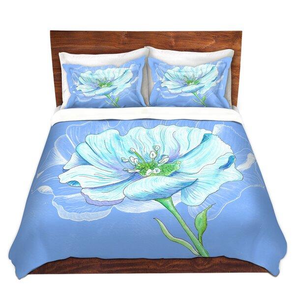 Blue Flower Duvet Cover Set