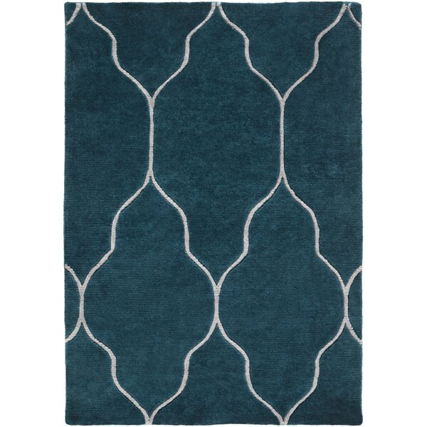 Moreton Teal Geometric Area Rug by Darby Home Co