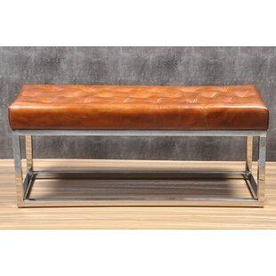 Ordinaire Adelinda Metal And Leather Bench