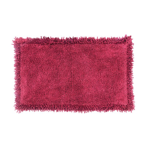 Tamberlyn Chenille Rectangle 100% Cotton Non-Slip Bath Rug