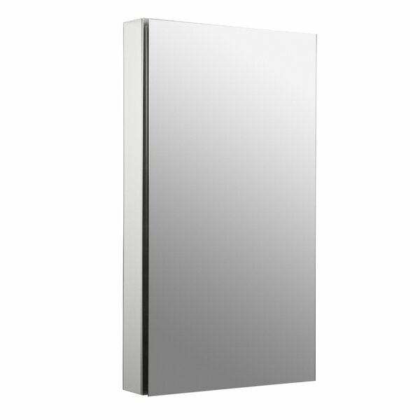 Catalan 20-1/8 x 36 Aluminum Single-Door Medicine Cabinet with 107 Degree Hinge by Kohler