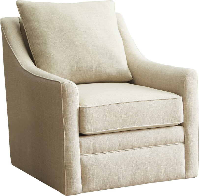 Allmodern custom upholstery quincy swivel armchair for Swivel accent chairs with arms