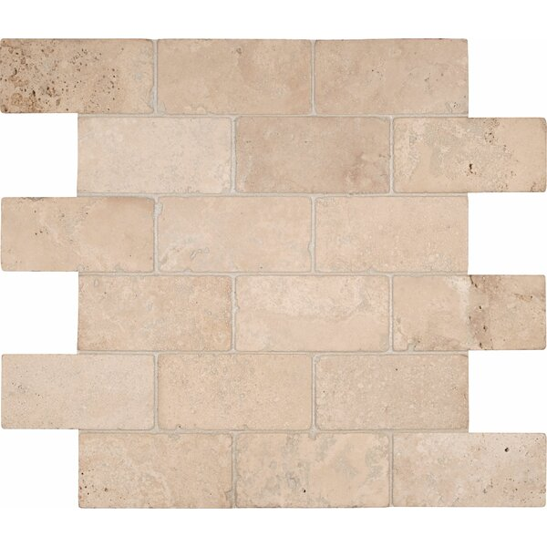 Durango 2 x 4 Travertine Mosaic Tile by MSI