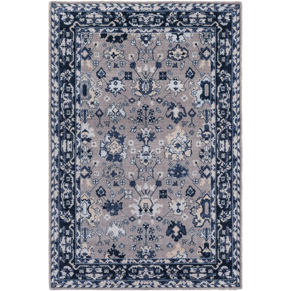 Akins Gray/Blue Area Rug by Charlton Home