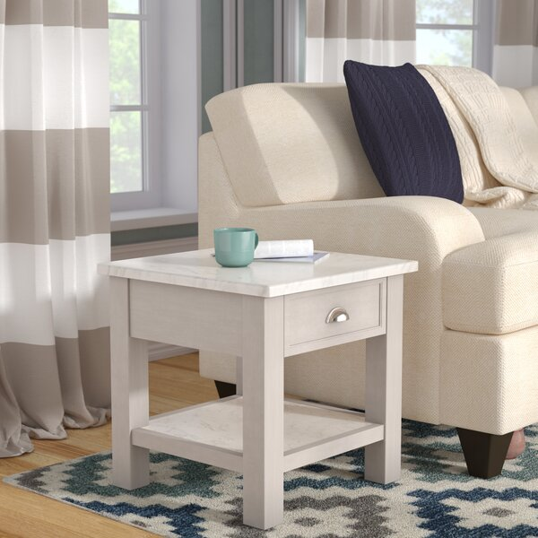 Villines Faux End Table by Charlton Home