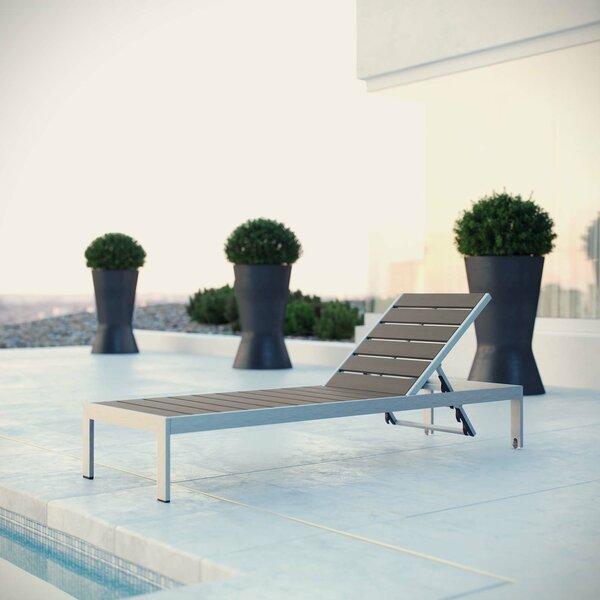 Coline Outdoor Patio Reclining Chaise Lounge by Orren Ellis Orren Ellis