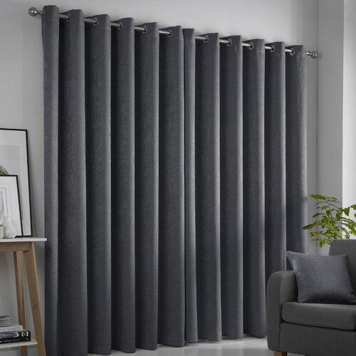 Ouida Eyelet Room Darkening Thermal Curtains Brambly