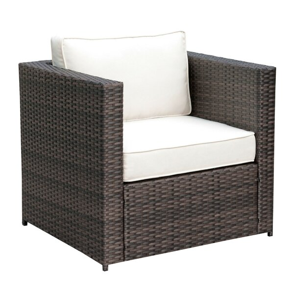 Colville Aluminum Frame Patio Chair with Cushion by Highland Dunes