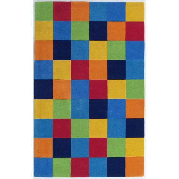 Shari Boys Blocks Blue Area Rug by Viv + Rae