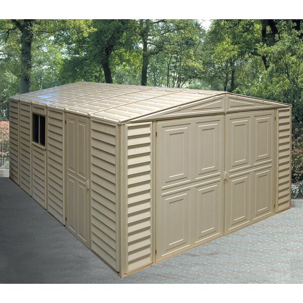 10 ft. 5 in. W x 18 ft. 2 in. D Plastic Garage Shed by Duramax Building Products