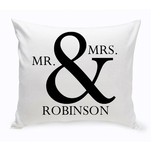 Mr U0026 Mrs Decorative Cotton Throw Pillow