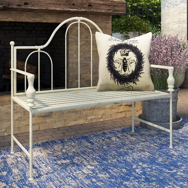 Artic Headboard Design Metal Garden Bench by Ophelia & Co.