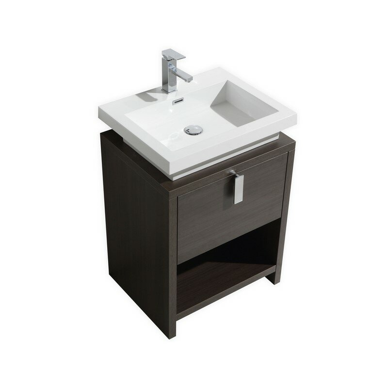 Mcloughlin 23 5 single modern bathroom vanity set for Levi 29 5 single modern bathroom vanity set
