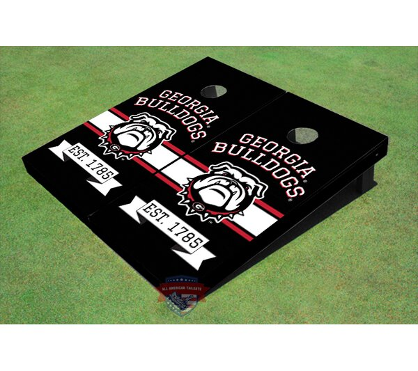 NCAA University of Georgia Bulldog Mark Black Solid Cornhole Board Set (Set of 2) by All American Tailgate