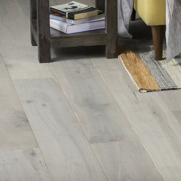 Orlando 7-1/2 Engineered Oak Hardwood Flooring in Rustic Whitewash by GoHaus