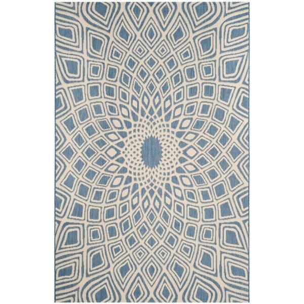 Mullen Blue/Beige Indoor/Outdoor Area Rug by Ebern Designs