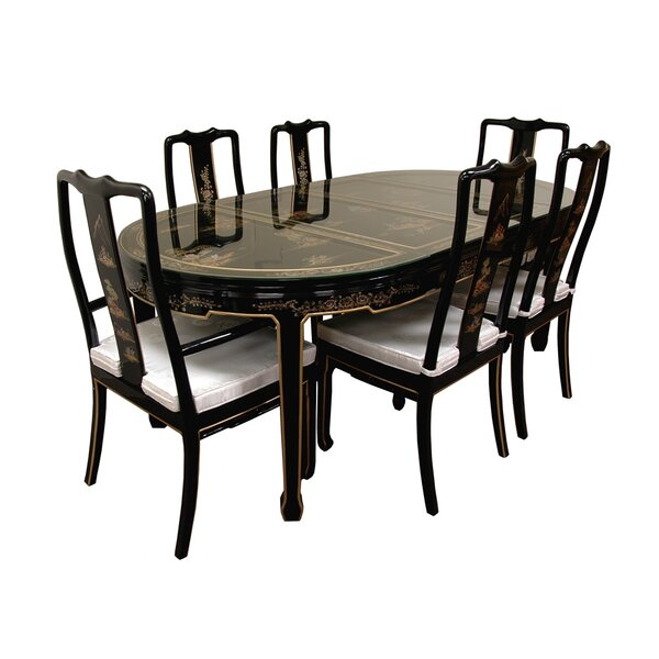 7 Piece Dining Set by Oriental Furniture