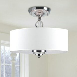 Best Reviews Mckeehan Crystal Decorated 3-Light Semi Flush Mount By House of Hampton