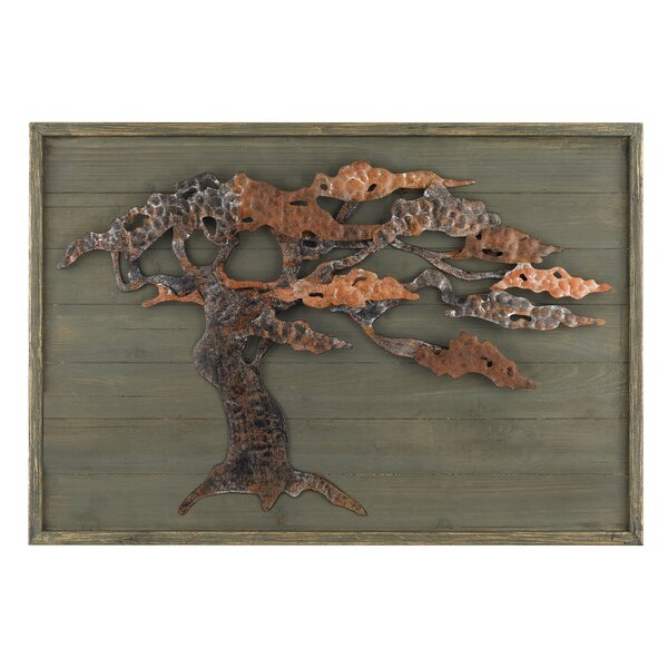 Wood and Metal Tree Framed Graphic Art Plaque by World Menagerie