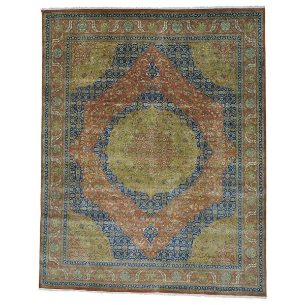 One-of-a-Kind Samons Vegetable Dyes 300 KPSI Hand-Knotted Blue/Green/Brown Area Rug by Astoria Grand