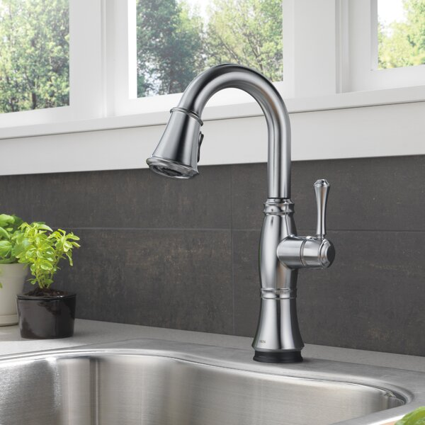 Cassidy Pull Down Touch Single Handle Kitchen Faucet with Touch2O and MagnaTite Docking by Delta