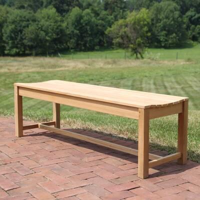 Earls Backless Teak Picnic Bench