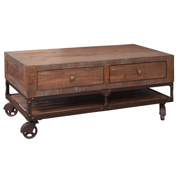 Bobbitt Coffee Table With 4 Drawer By Loon Peak