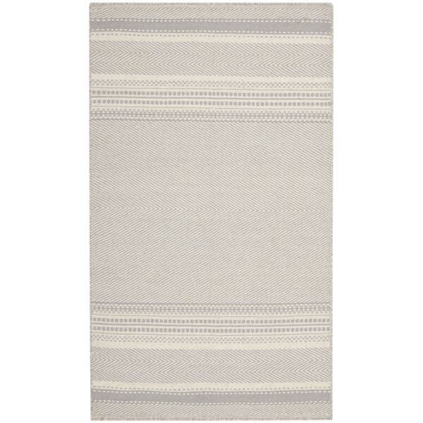 Butters Hand-Woven Grey/Ivory Area Rug by Brayden Studio