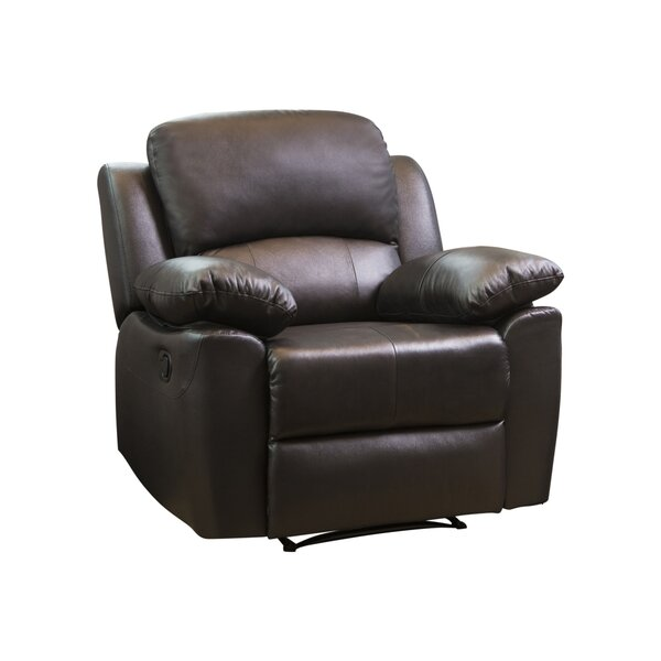 Veazey Leather Manual Recliner By Darby Home Co