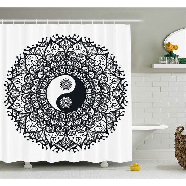Ying Yang Decor Mandala Yoga Shower Curtain by East Urban Home
