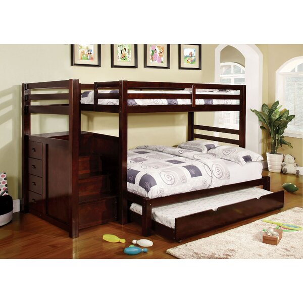 Farview Twin over Full Bunk Bed with Drawer by Harriet Bee