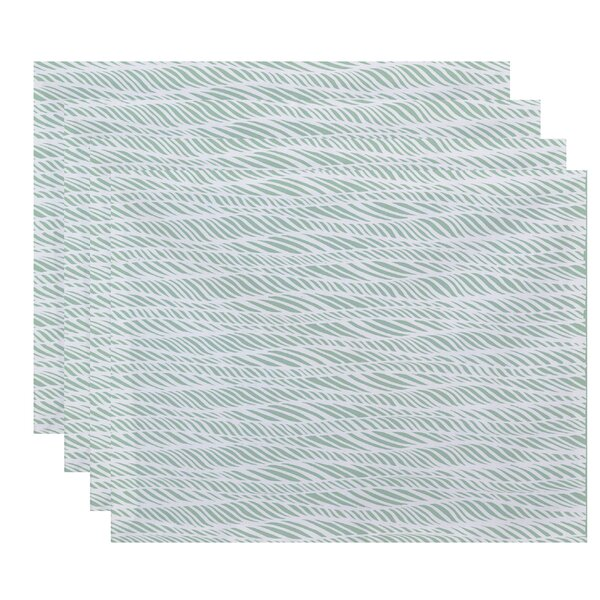 Viet Rolling Waves Placemat (Set of 4) by Bloomsbury Market