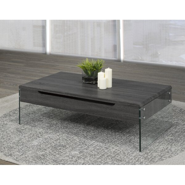 Lift Top Coffee Table with Storage by Brassex