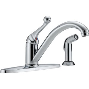 Delta Core 100/300/400 Series Single Handle Standard Kitchen Faucet with Side Spray