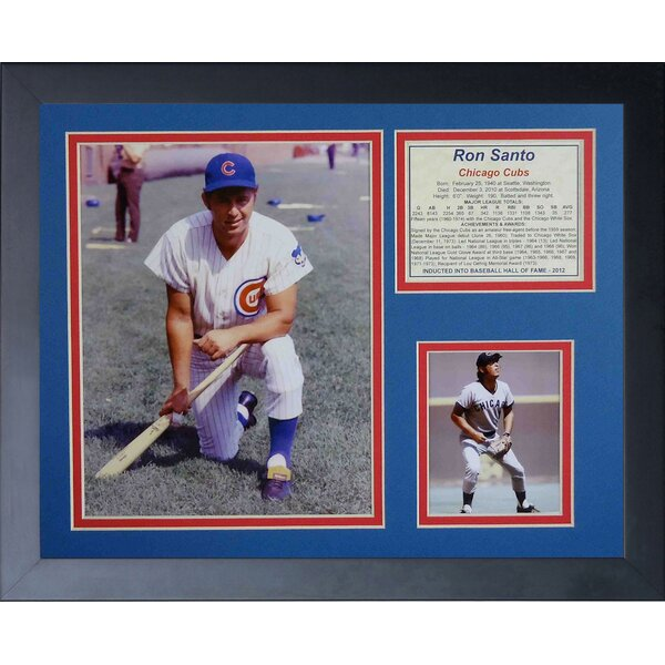 Ron Santo Framed Memorabilia by Legends Never Die
