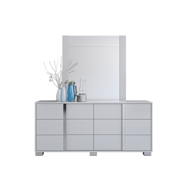 Gower 6 Drawer Double Dresser with Mirror by Orren Ellis