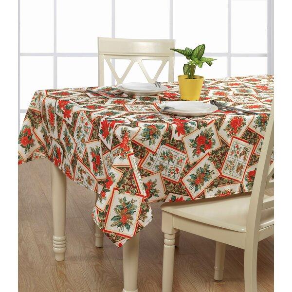 European Christmas Poinsettia Tablecloth by Violet Linen