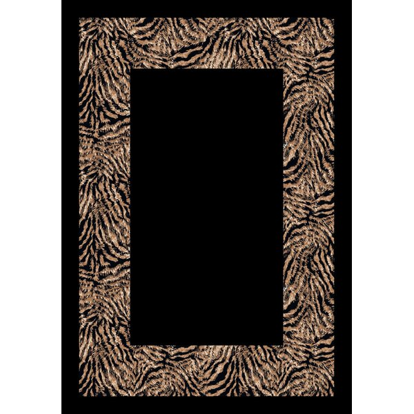 Design Center Black/Gray Matamba Zebra Area Rug by Milliken