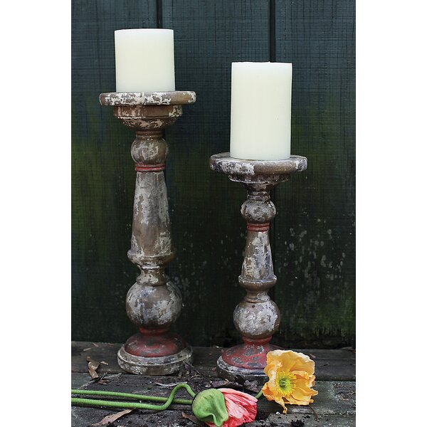 Turned Wood Candlestick by Laurel Foundry Modern Farmhouse