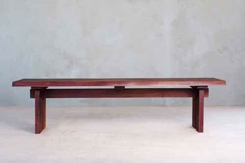 Live Edge Slab Wood Dining Bench by Masaya & Co