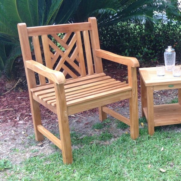 Zion Teak Patio Dining Chair by Rosecliff Heights Rosecliff Heights