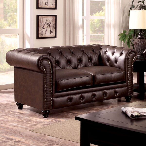 New Look Collection Branchville Chesterfield Loveseat by Three Posts by Three Posts