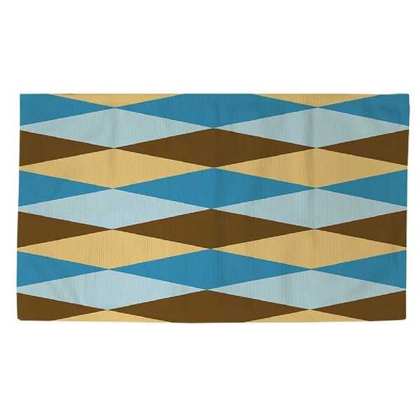 Bold in Blue Argyle Area Rug by Manual Woodworkers & Weavers