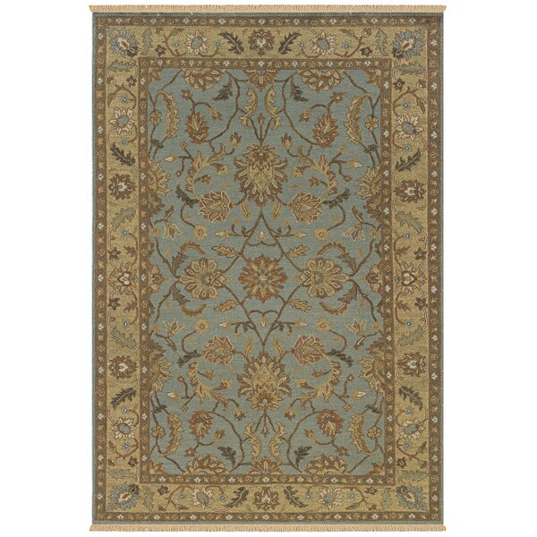 Washim Hand-Woven Light Blue Area Rug by Meridian Rugmakers