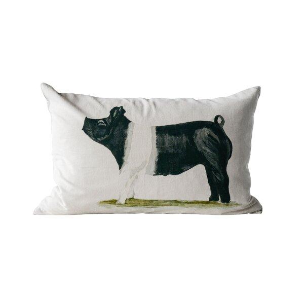 Bartley Pig Cotton Lumbar Pillow by Gracie Oaks
