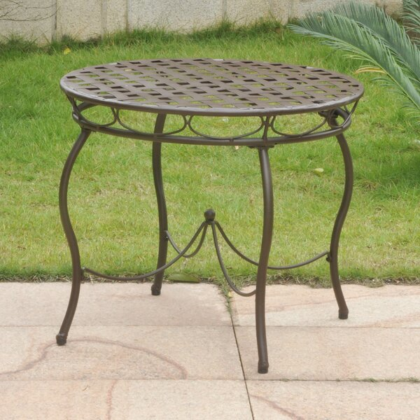 Schilling Metal Bistro Table by Alcott Hill